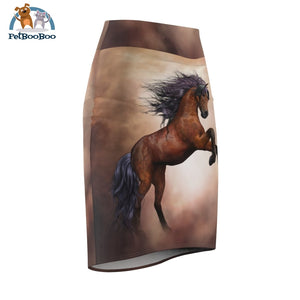Horse Womens Pencil Skirt All Over Prints