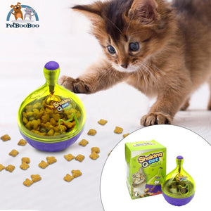 Interactive Cat Treat Ball Food Dispenser Cat