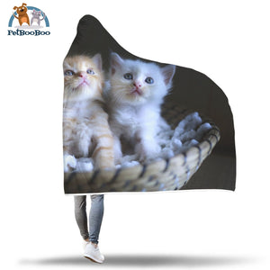 Kittens Hooded Blanket