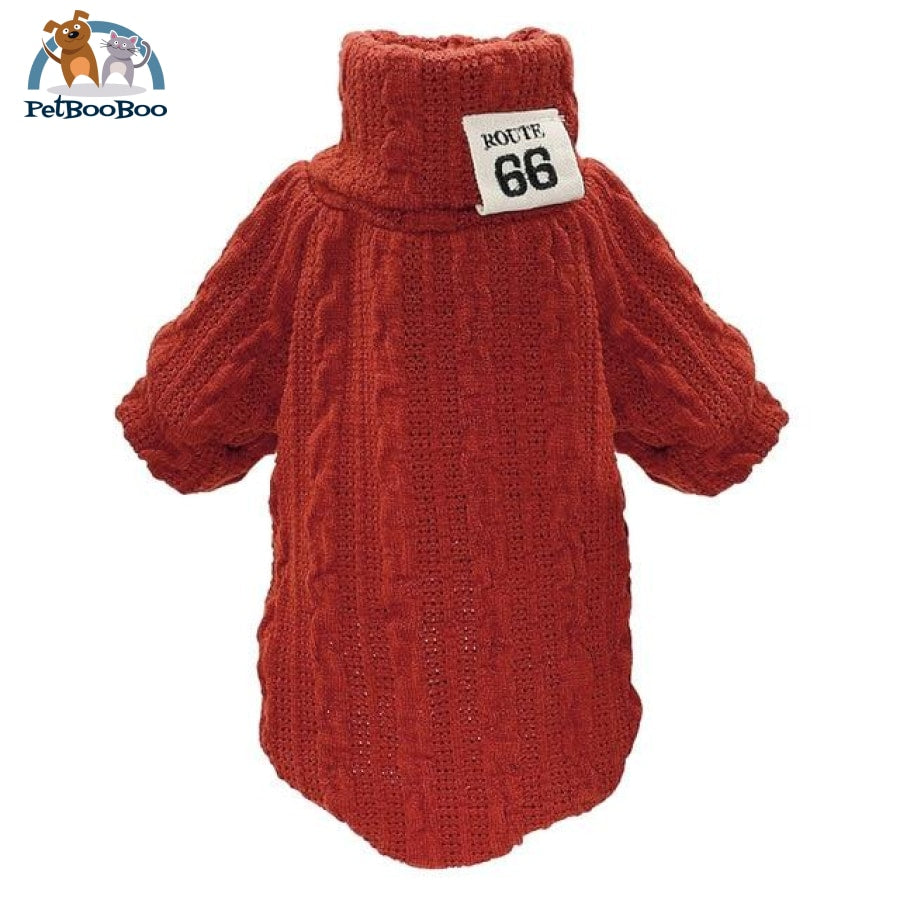 Knit Sweater For Pets Red / L Sweater