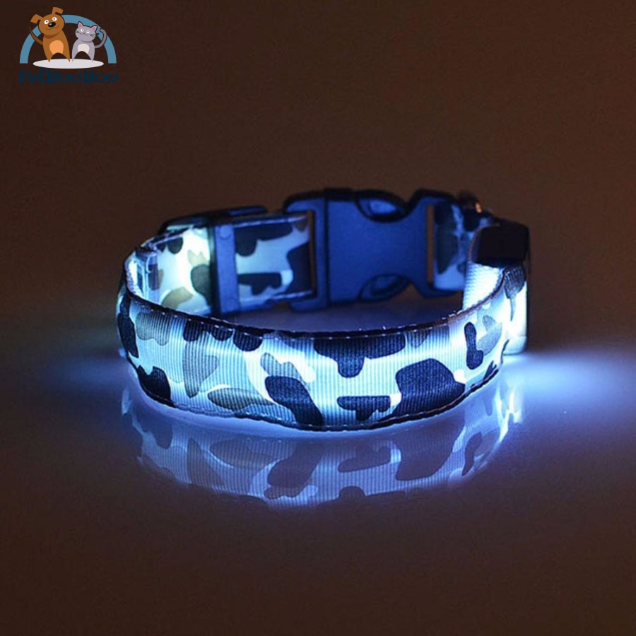 Led Glow Camouflage Collar Dog Blue / L 200003720