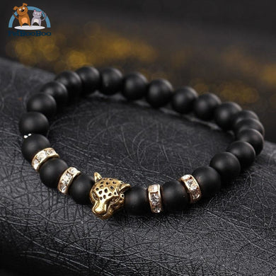 Leopard Natural Stones Beads Bracelet For Men And Women 200000147