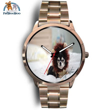 Lion Chihuahua Rose Gold Watch Mens 40Mm / Metal Link