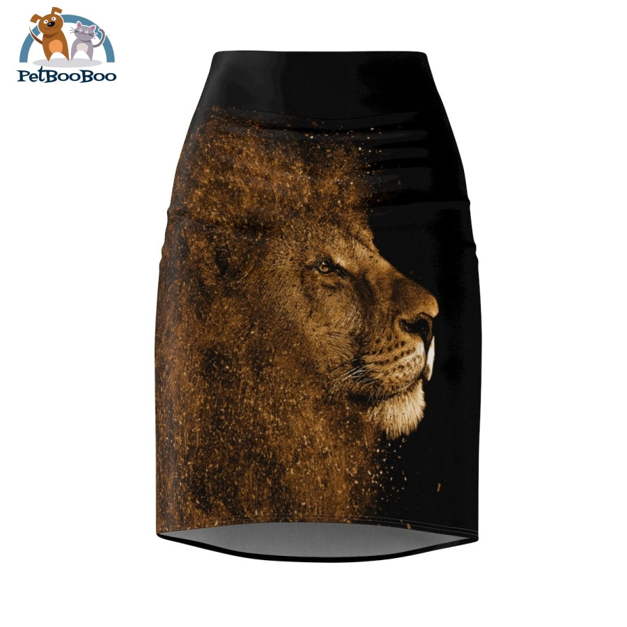 Lion Womens Pencil Skirt Xs All Over Prints