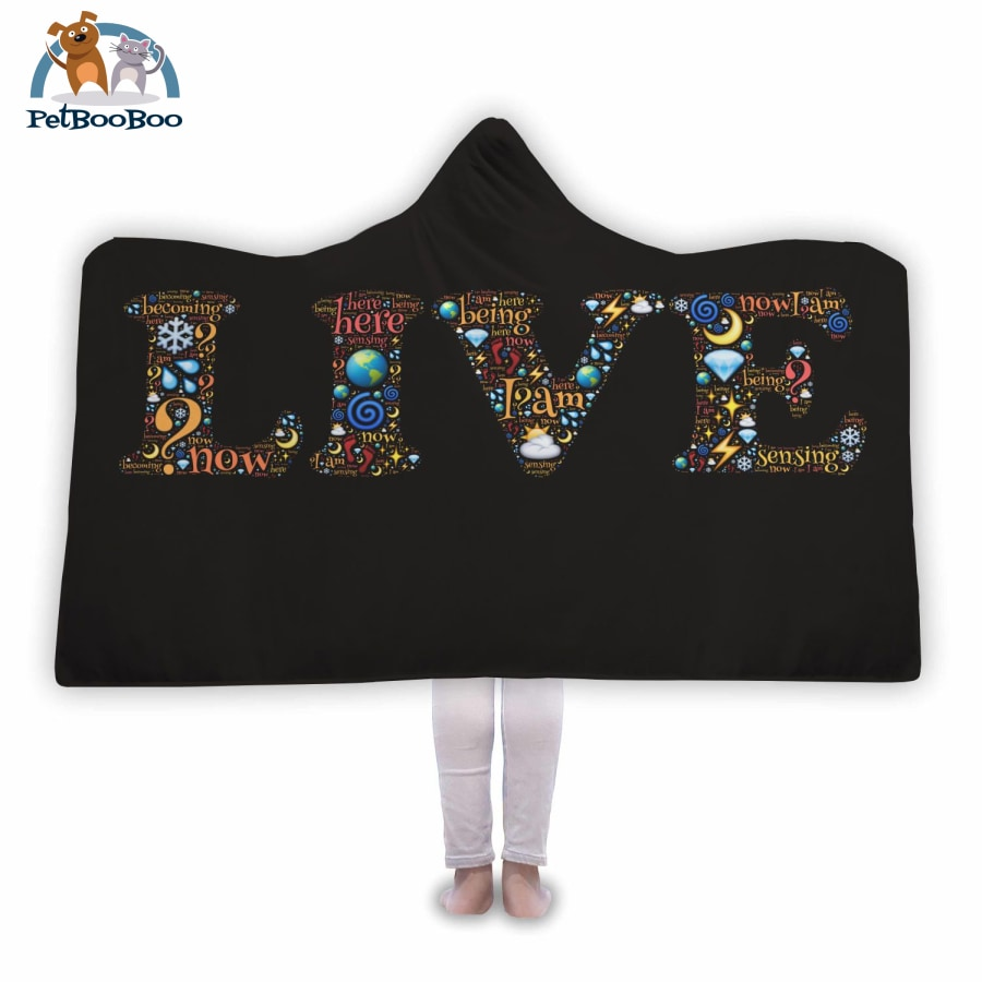 Live Hooded Blanket Adult 80X55