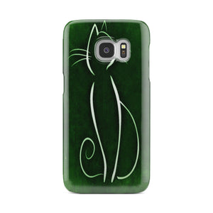 Green Cat Phone Case