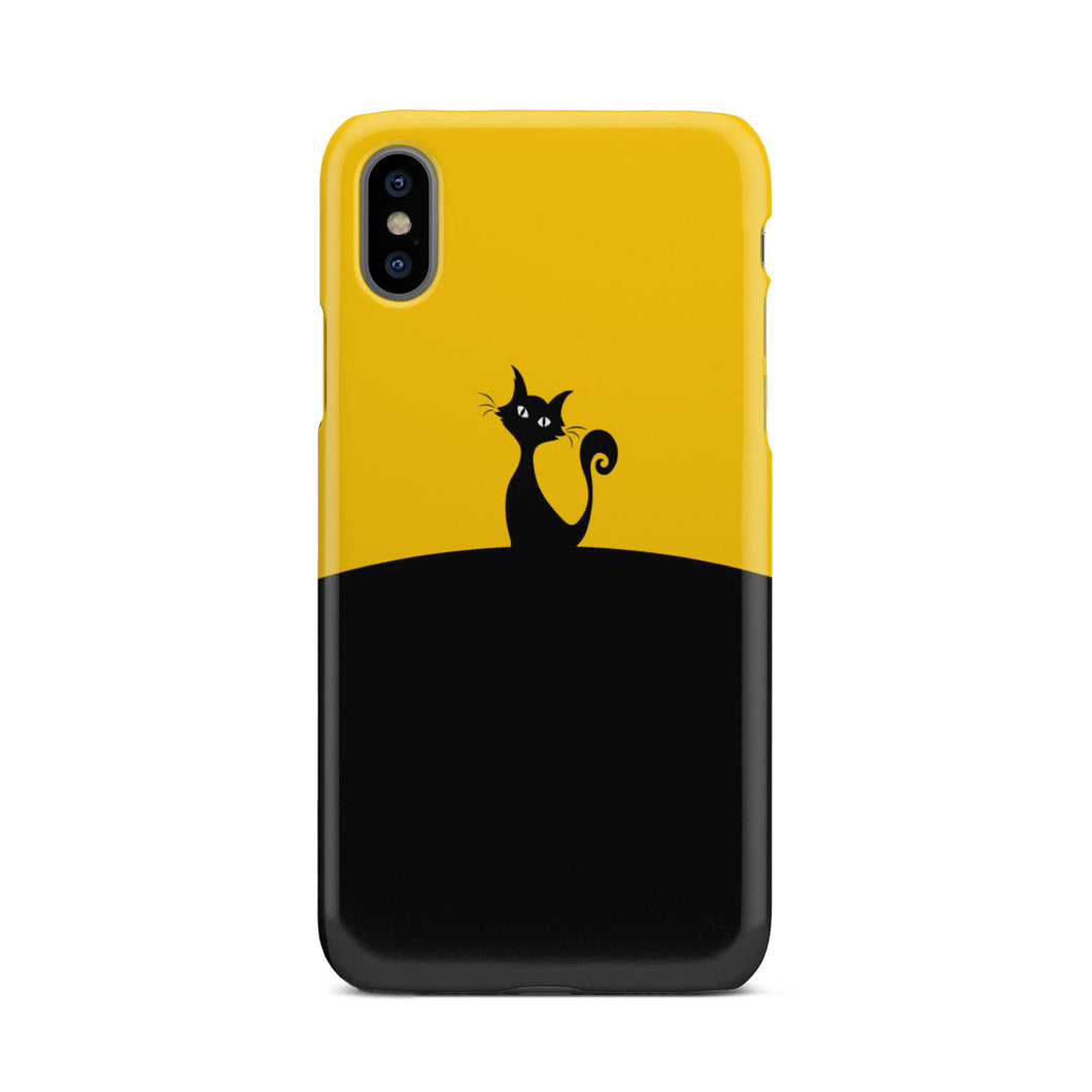 Black and Yellow Cat Phone Case