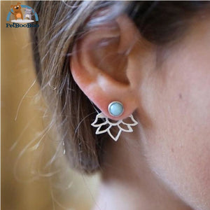Lotus Earrings E0116Silver Jewel