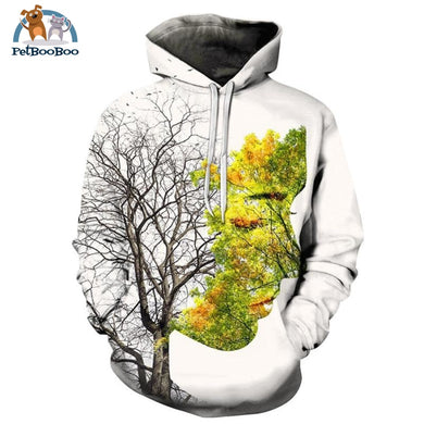 Love For Nature 3D Print Hoodie Men And Women Afkh701 / S 200000344
