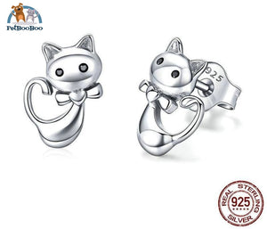Lovely Cats Sterling Silver Earrings Jewel