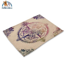 Mandalas Pattern Linen Table Placemats 1 Placemats