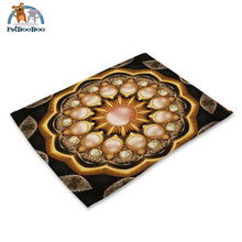 Mandalas Pattern Linen Table Placemats 10 Placemats