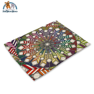 Mandalas Pattern Linen Table Placemats 11 Placemats
