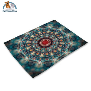 Mandalas Pattern Linen Table Placemats 14 Placemats