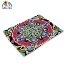 Mandalas Pattern Linen Table Placemats 15 Placemats