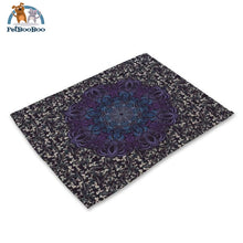 Mandalas Pattern Linen Table Placemats 16 Placemats