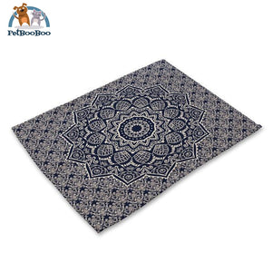 Mandalas Pattern Linen Table Placemats 18 Placemats