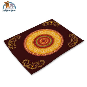 Mandalas Pattern Linen Table Placemats 22 Placemats