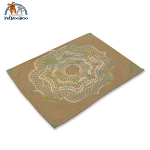 Mandalas Pattern Linen Table Placemats 23 Placemats