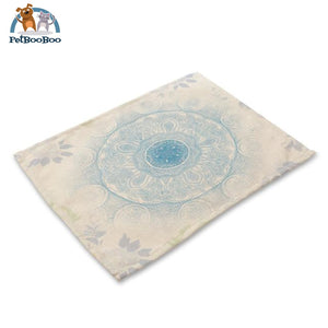Mandalas Pattern Linen Table Placemats 24 Placemats