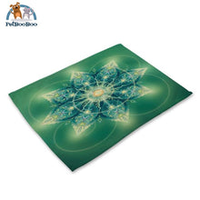Mandalas Pattern Linen Table Placemats 26 Placemats