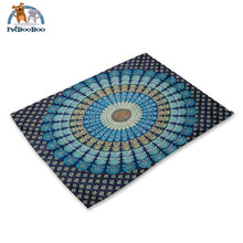 Mandalas Pattern Linen Table Placemats 3 Placemats