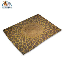 Mandalas Pattern Linen Table Placemats 5 Placemats