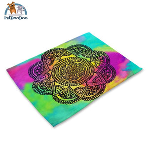 Mandalas Pattern Linen Table Placemats 8 Placemats