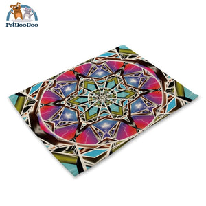 Mandalas Pattern Linen Table Placemats Placemats
