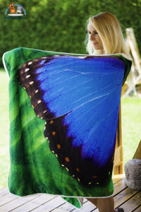 Mariposa Hooded Blanket Adult 80X55