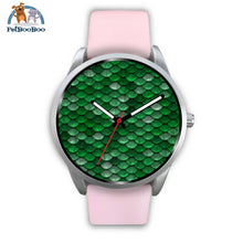 Mermaid Silver Watch Mens 40Mm / Pink Leather