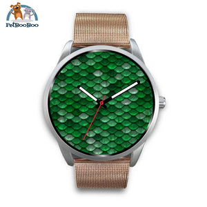 Mermaid Silver Watch Mens 40Mm / Rose Gold Metal Mesh