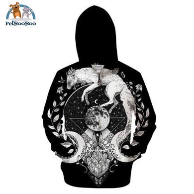 Moon Hoodie For Men And Women Zip329 / 4Xl