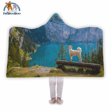 Mountain Dog Hooded Blanket Adult 80X55