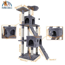 Multi-Layer Cat Tree House With Ladder And Toys