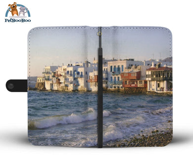 Mykonos Village Greece Wallet Phone Case** Promo 2/1 Iphone X / Xs Case