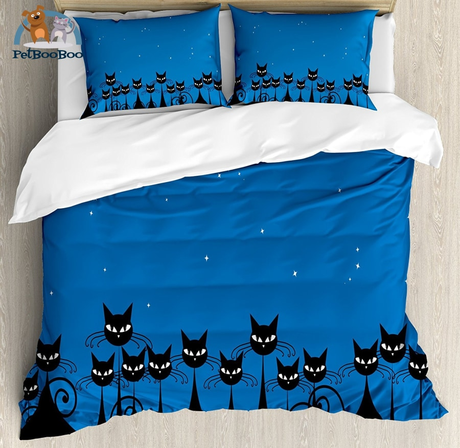 Night Of The Black Cats Bedding Duvet Cover Bed Twin Duvet Cover