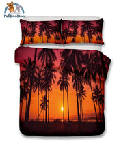 Orange Palm Trees Bedding Duvet Cover Set Duvet Cover