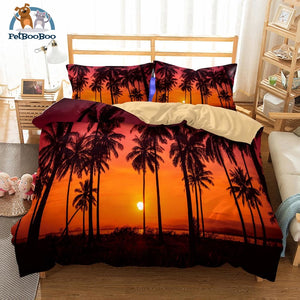 Orange Palm Trees Bedding Duvet Cover Set Us Twin Duvet Cover