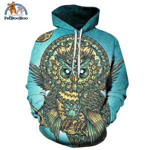 Owl Printed 3D Hoodie For Men & Women