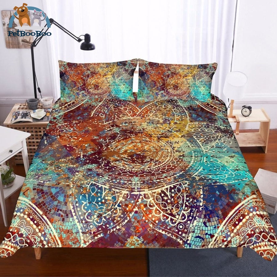 Paisley Mandala Bedding Duvet Cover Set Au Single 40601