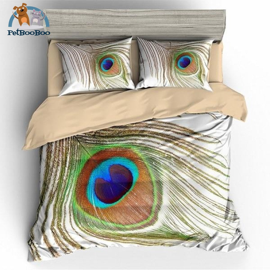 Peacock Feathers Bedding Duvet Cover Set Au Single Duvet Cover