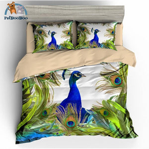 Peacock & Feathers Collection Bedding Duvet Cover Set Au Single Duvet Cover