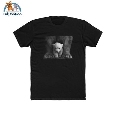 Polar Bear Mens Cotton Crew Tee Solid Black / L T-Shirt