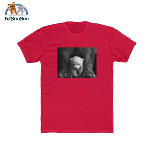 Polar Bear Mens Cotton Crew Tee Solid Red / Xs T-Shirt