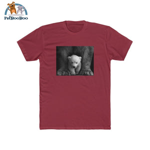 Polar Bear Mens Cotton Crew Tee Solid Scarlet / Xs T-Shirt