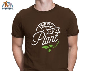 Powered By Plant T-Shirt For Men And Women Coffee / S 200000783