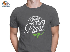 Powered By Plant T-Shirt For Men And Women Dark Gray / S 200000783