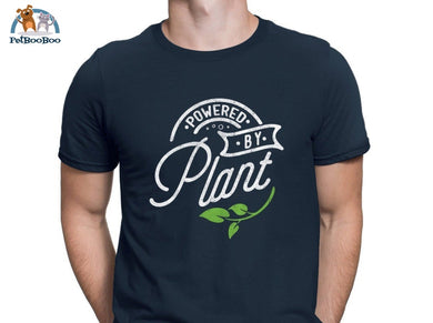 Powered By Plant T-Shirt For Men And Women Navy Blue / S 200000783