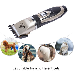 Rechargeable Electric Clipper Dogs & Cats Hair Trimmer & Grooming Set